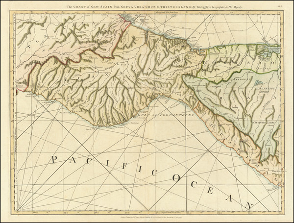 45-Mexico and Central America Map By Thomas Jefferys