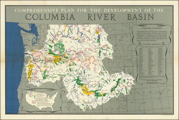 22-Idaho, Oregon and Washington Map By United States GPO