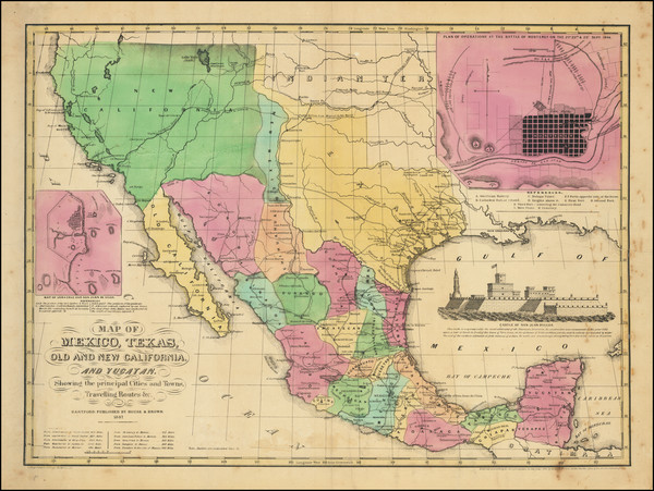 56-Texas, Plains, Southwest, Rocky Mountains, Mexico and California Map By House & Brown