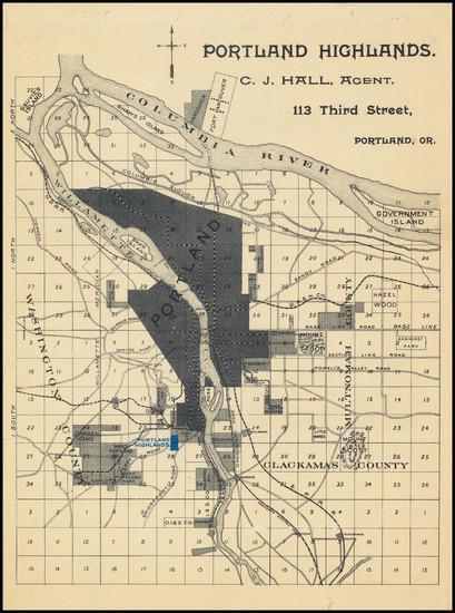 72-Oregon Map By Shorey & Hall