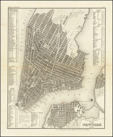 39-New York City Map By Joseph Meyer