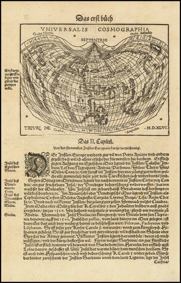 45-World Map By Johann Honter