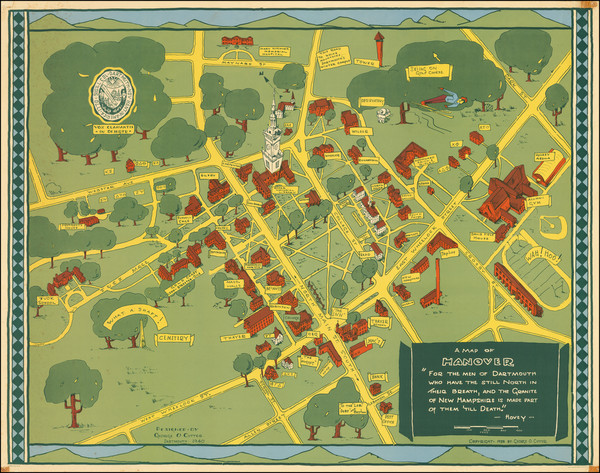 72-New Hampshire and Pictorial Maps Map By George O. Cutter