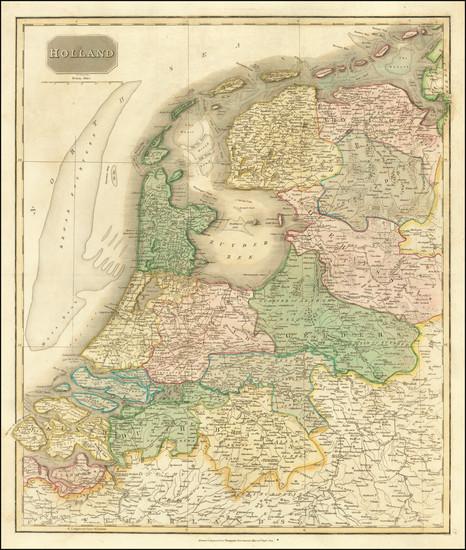8-Netherlands Map By John Thomson