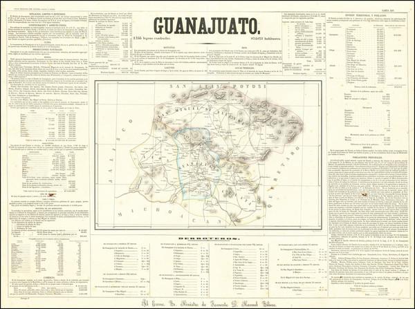 76-Mexico Map By Antonio Garcia y Cubas