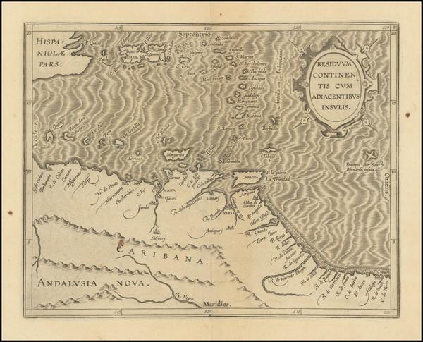 85-Caribbean and Venezuela Map By Cornelis van Wytfliet