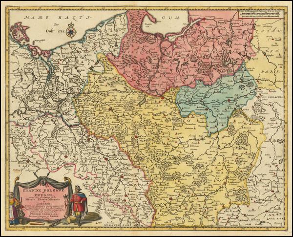53-Poland Map By Pieter van der Aa