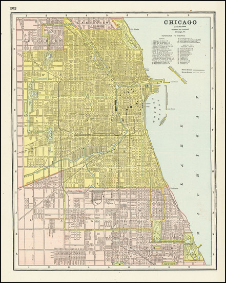 53-Illinois and Chicago Map By George F. Cram