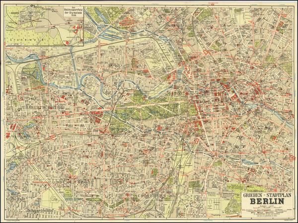 10-German Cities Map By Georg Stilke