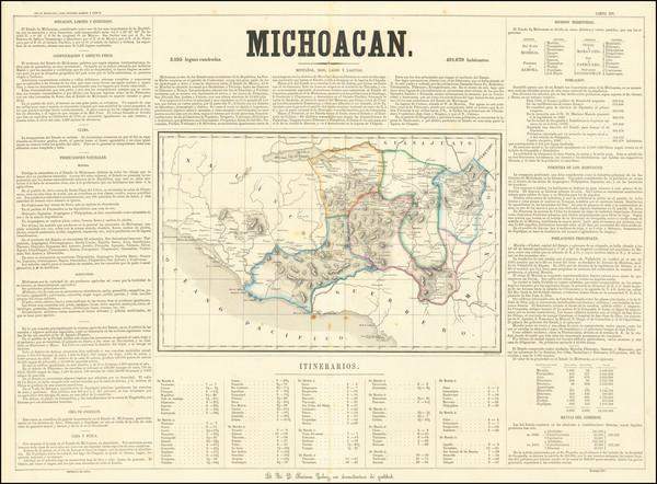 22-Mexico Map By Antonio Garcia y Cubas