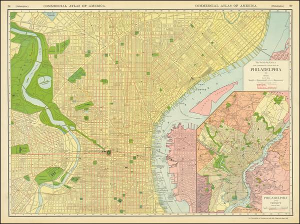 45-Pennsylvania and Philadelphia Map By William Rand  &  Andrew McNally