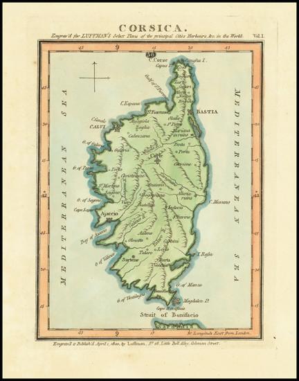 55-Corsica Map By John Luffman