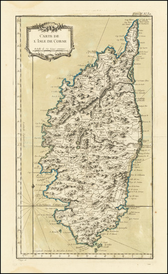 10-Corsica Map By Jacques Nicolas Bellin