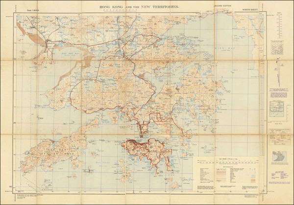 90-Hong Kong and World War II Map By Inter-Services Topographic Department