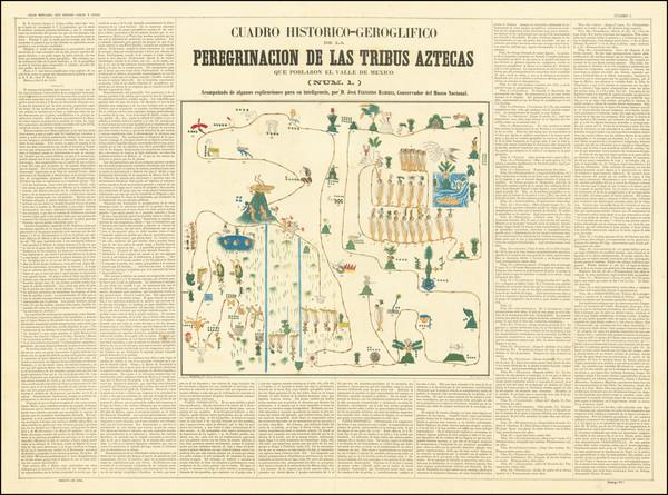 31-Mexico Map By Antonio Garcia y Cubas