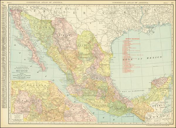 83-Mexico Map By Rand McNally & Company