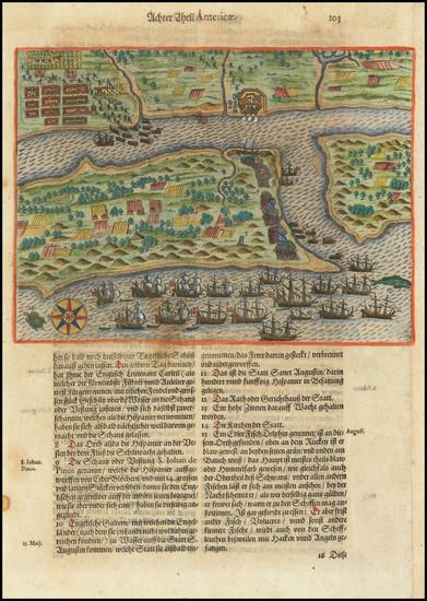 38-Florida Map By Theodor De Bry