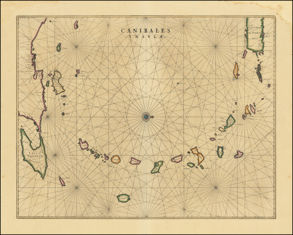 74-Caribbean and Other Islands Map By Johannes et Cornelis Blaeu