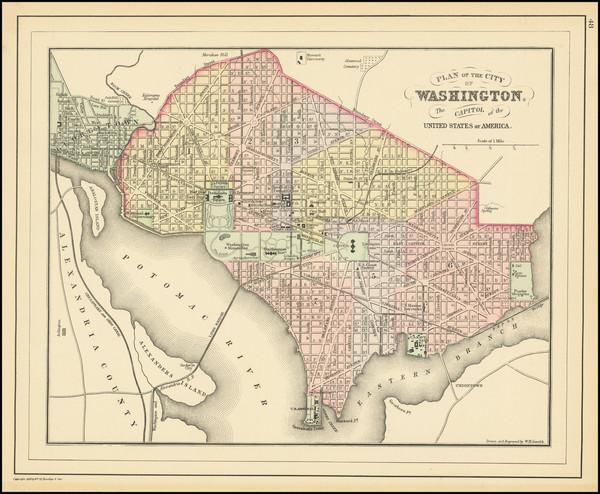 57-Washington, D.C. Map By William Bradley