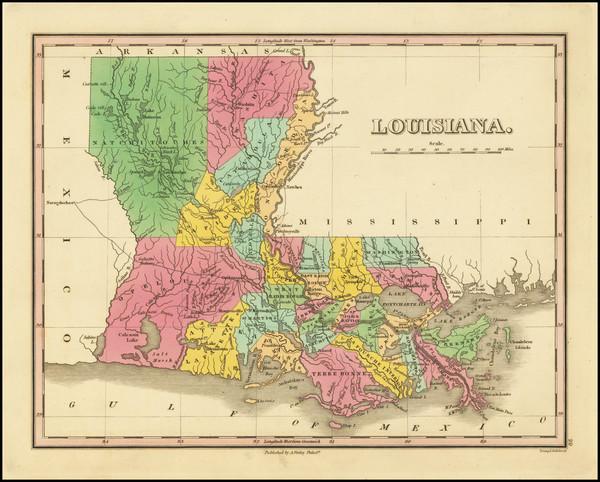 11-Louisiana Map By Anthony Finley