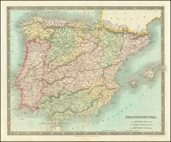 58-Spain Map By Henry Teesdale