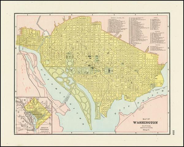10-Washington, D.C. Map By George F. Cram