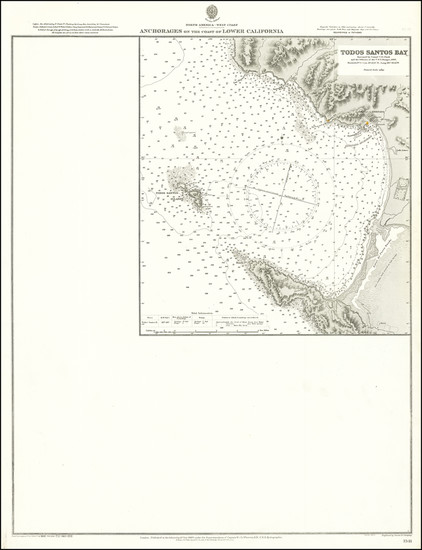 32-Baja California Map By British Admiralty