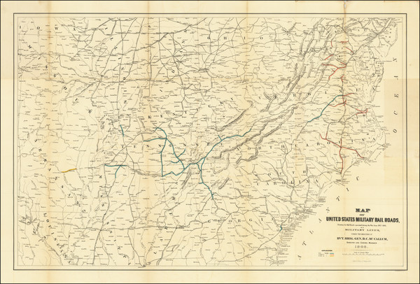 99-United States, South, Southeast, Midwest and Civil War Map By Julius Bien