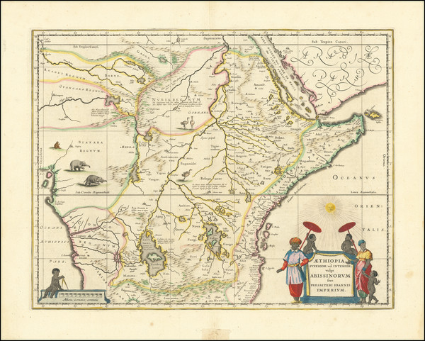 22-East Africa and West Africa Map By Willem Janszoon Blaeu