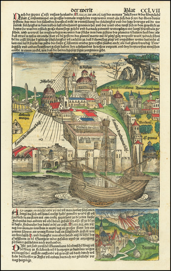 63-France, Turkey and Curiosities Map By Hartmann Schedel