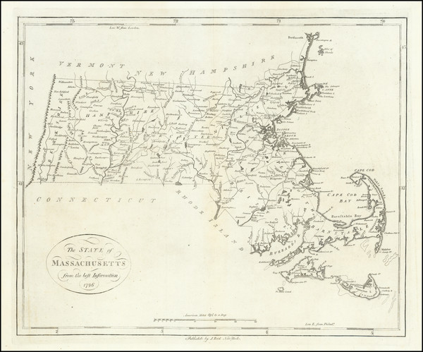 85-Massachusetts Map By John Reid