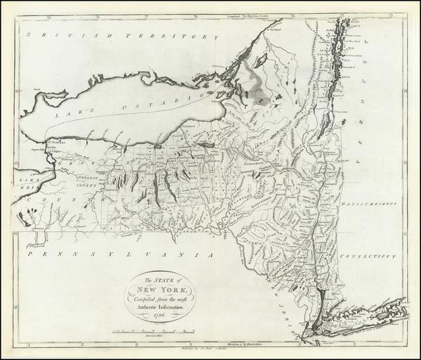 41-New York State Map By John Reid