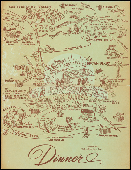 4-California Map By Brown Derby Service Corp.