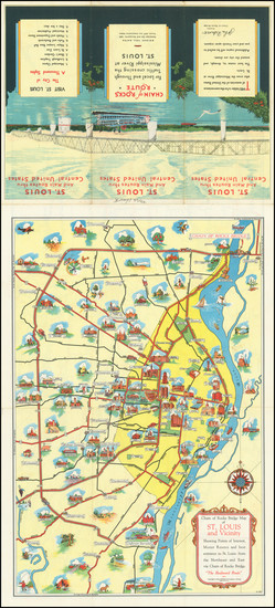 85-Missouri and Pictorial Maps Map By Rand McNally & Company