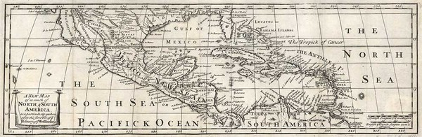 14-Southeast, Texas, Caribbean and California Map By Antonio de Herrera y Tordesillas