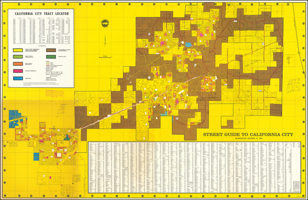 23-Other California Cities Map By California City Development Company