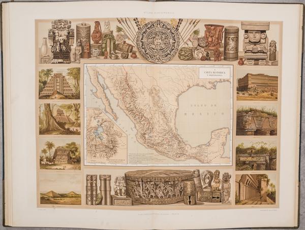 90-Mexico and Atlases Map By Antonio Garcia y Cubas / Debray Sucessores