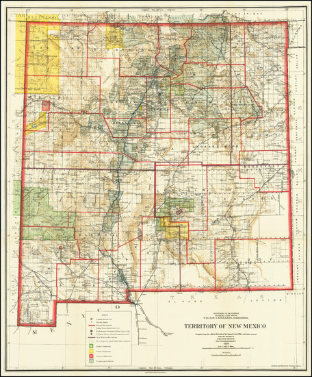 27-New Mexico Map By General Land Office