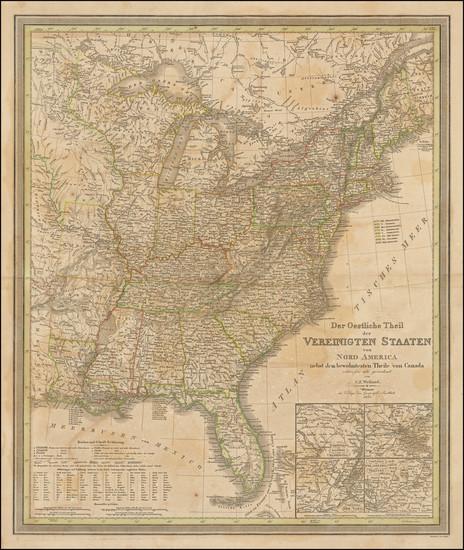 37-United States Map By Carl Ferdinand Weiland