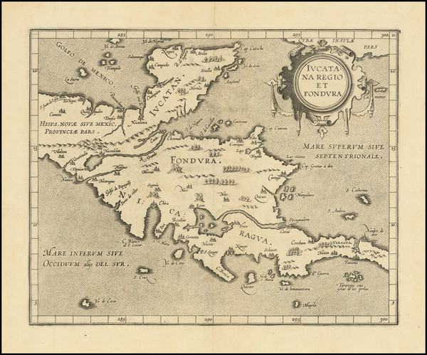 20-Mexico and Central America Map By Cornelis van Wytfliet