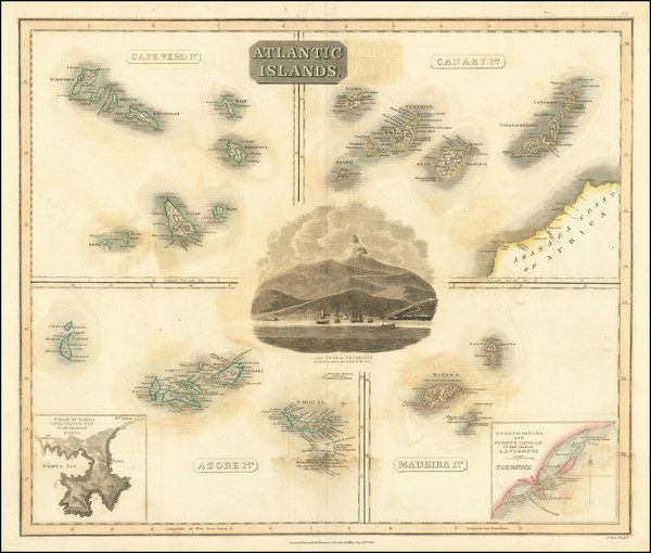 24-Portugal and African Islands, including Madagascar Map By John Thomson