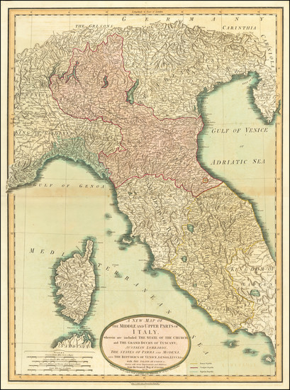 68-Northern Italy and Corsica Map By Laurie & Whittle