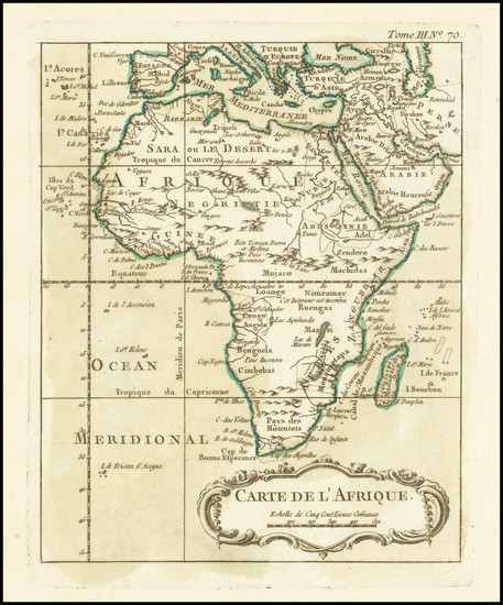 0-Africa Map By Jacques Nicolas Bellin