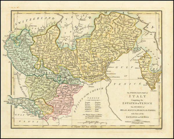49-Northern Italy Map By Robert Wilkinson