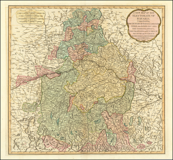 11-Süddeutschland Map By Laurie & Whittle