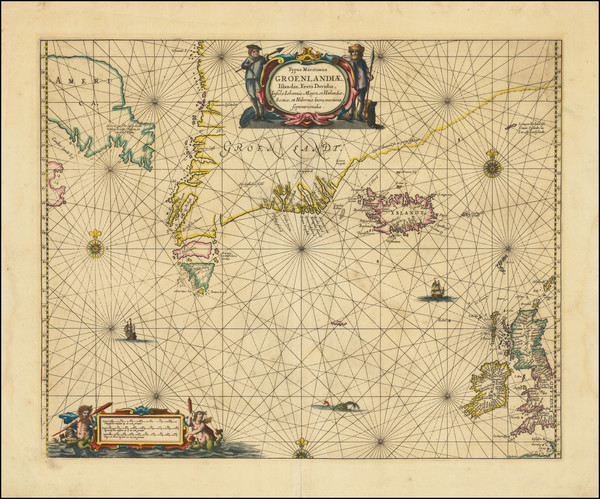 37-Atlantic Ocean, Iceland and Eastern Canada Map By Jan Jansson
