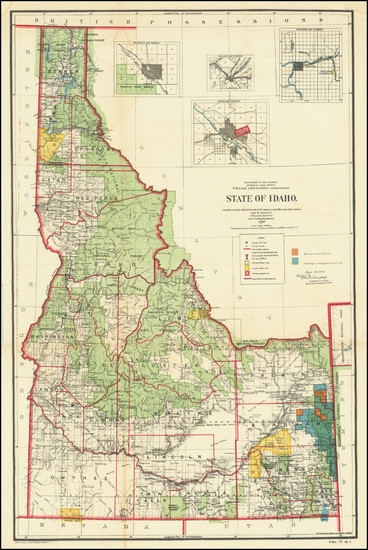 18-Idaho Map By General Land Office
