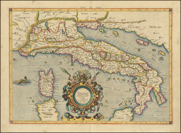49-Italy Map By Gerard Mercator