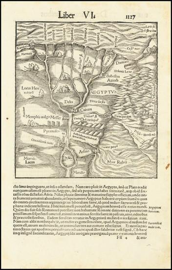 29-Egypt Map By Sebastian Munster