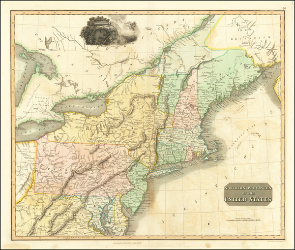 70-New England, New York State and Mid-Atlantic Map By John Thomson